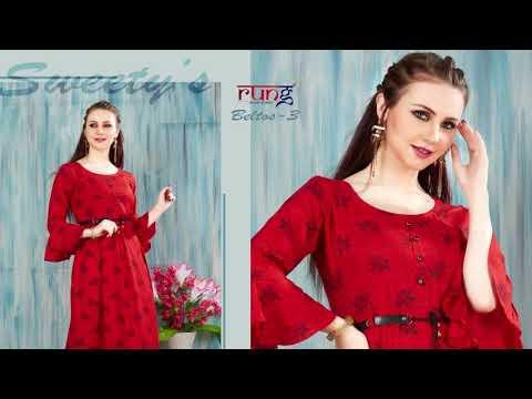 Beltos Vol 3 Rung  Kurti Call 9428809808 Price Manufacturer Wholesaler Ahmedabad Surat Gujarat