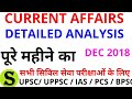 UPPSC UPSC IAS PCS BPSC Detailed Monthly Current Affairs magazine latest news part 3 Dec 2018