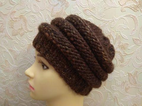 Объемные шапки вязаные крючком женские с описанием и фото