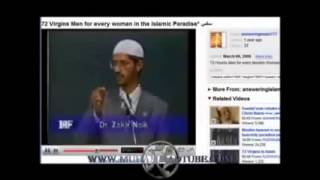 Zakir Naik's wife, mother, gonna have sex with 72 horny men in Jannah, Muslim heaven, forever