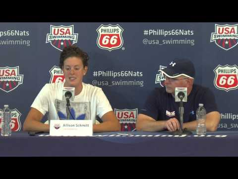 Allison Schmitt Press Conference 8 5 2014   USA Swimming National Championships