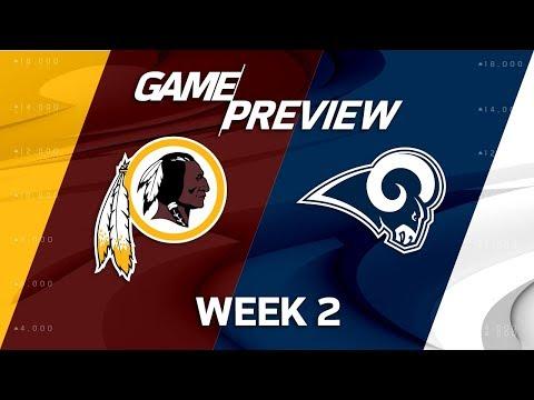 Washington Redskins vs. Los Angeles Rams | Week 2 Game Preview | NFL