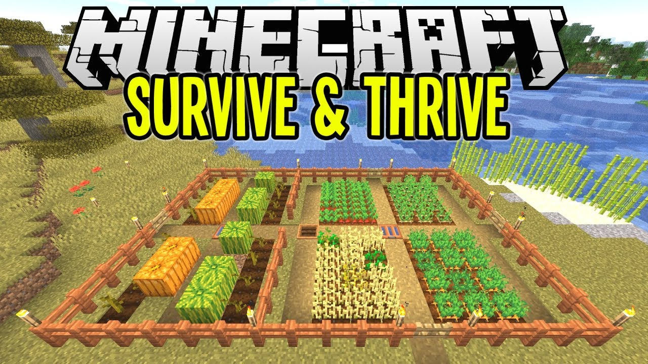 Minecraft Super Easy Crop Farm Minecraft Survival Let S Play Tutorial Ep 8 Youtube