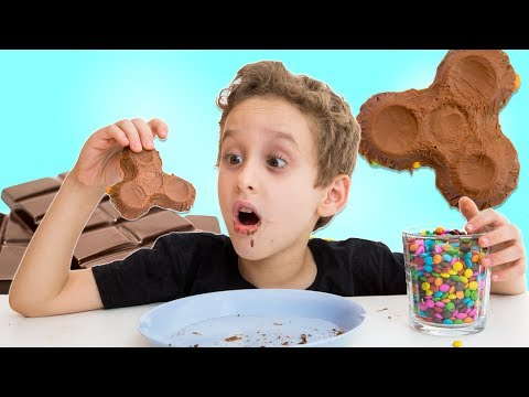 Fidget Spinner de Chocolate e M&M's para Crianças - DIY Chocolate w/ M&M's Fidget Spinner for Kids