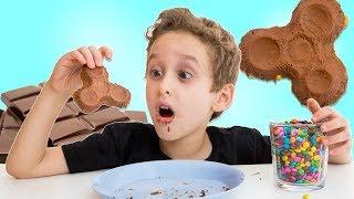FIDGET SPINNER DE CHOCOLATE e M&M's para Crianças - DIY Chocolate w/ M&M's Fidget Spinner for Kids