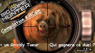 Cabela's Big Game Hunter Pro Hunts | Compilation KillCam + Duel contre un Grizzly ! |