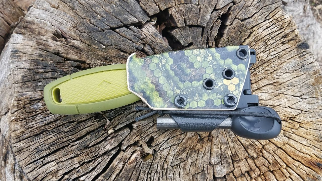 Custom Kydex sheath for the Mora Garberg with Tek-lok vertical or scout carry