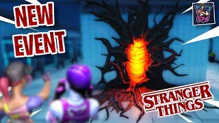 "🔴 NEW ITEM SHOP SKINS | NEW ""STRANGER THINGS"" LIVE EVENT in Fortnite Live"