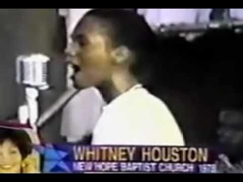 Whitney Houston Sings At New Hope Baptist Church In Newark Nj
