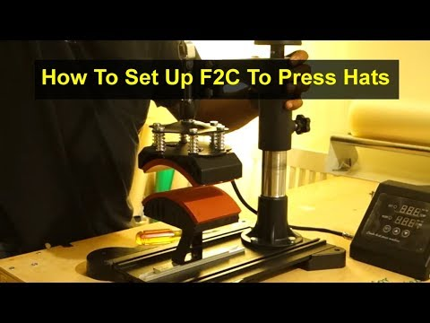 How to set up your F2C Pro 5 in 1 swing away digital transfer sublimation heat press to press hats