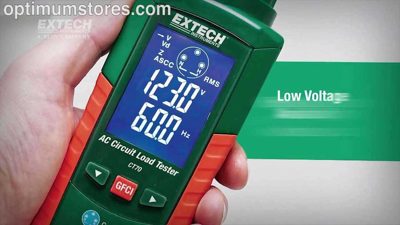 extech ct70 ac circuit load tester youtube