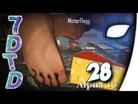 7 Days to Die #28 - Flaggis Harzer Roller und ein wenig Gras - (Alpha 13/Deutsch)
