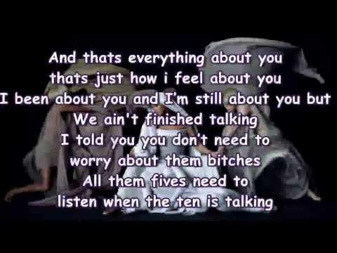 Beyoncé - Mine Featuring Drake Lyrics On Screen