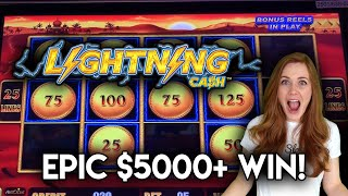 OMG!! INCREDIBLE EPIC RUN ON LIGHTNING CASH OVER $5000 PROFIT!! JACKPOT HANDPAY ONLY THE BEGINNING!!