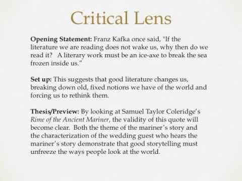 Critical lens essay quotes critical lens essays quotes youtube