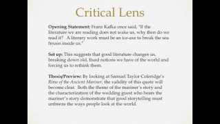Quotes for critical lens essays