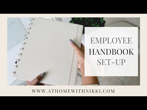 SMALL BUSINESS TIP |  HOW TO CREATE A TEAM WORKBOOK | EMPLOYEE MANUAL