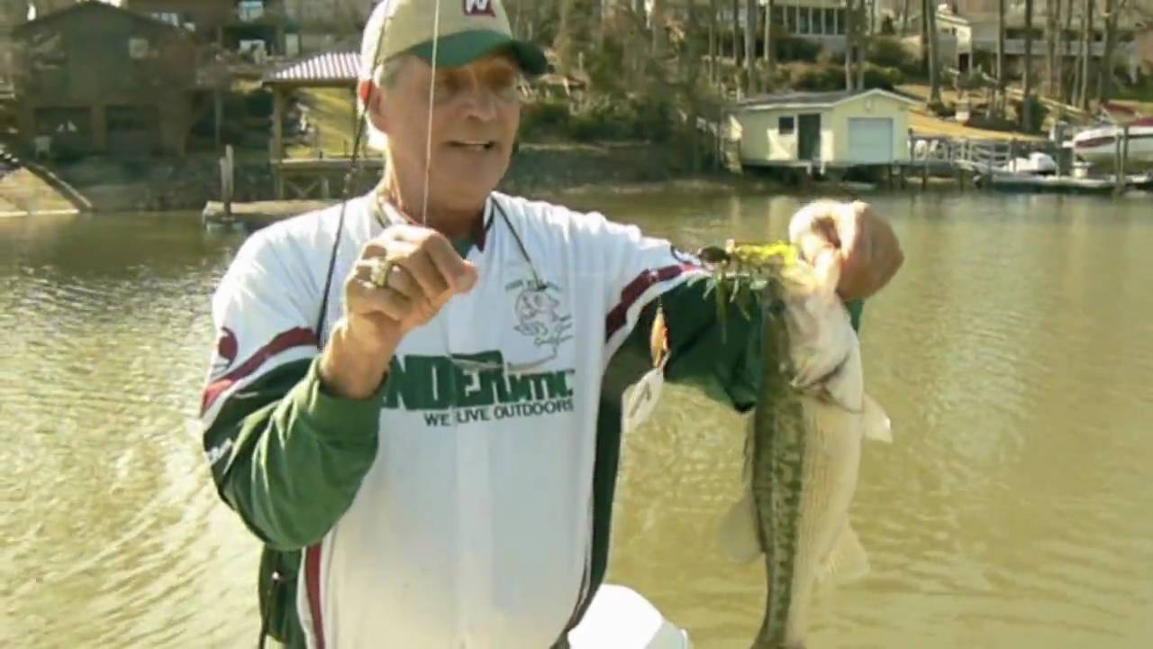 Lake norman monster monster fishing lure with capt gus for Lake norman bass fishing
