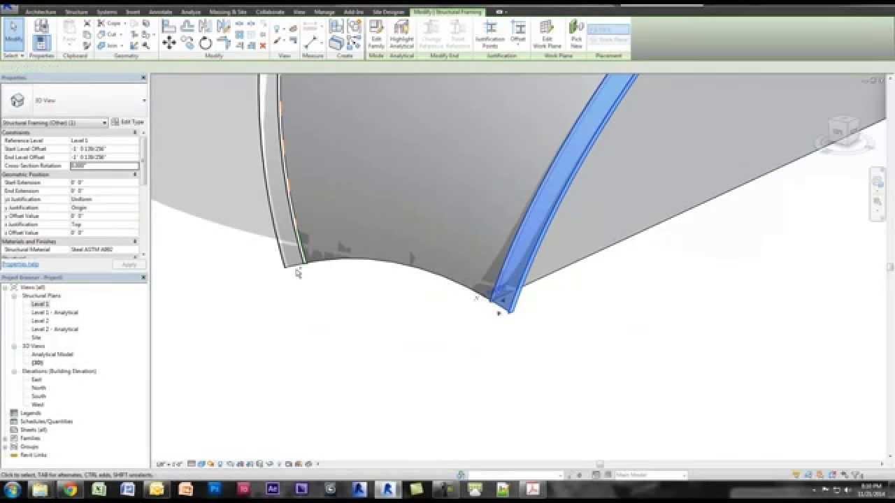 Revit Tutorial - Angled Arched Beams