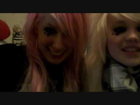 Emo girls making out