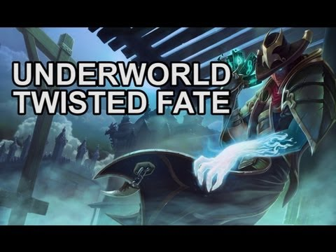 Underworld Twisted Fate Skin and Abilities - New Skin Preview - League of Legends
