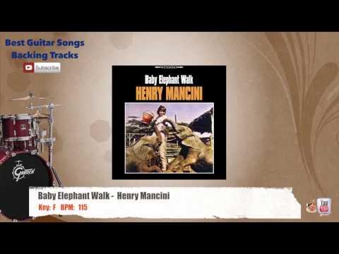 Baby Elephant Walk - Henry Mancini Drums Backing Track with scale, chords and lyrics