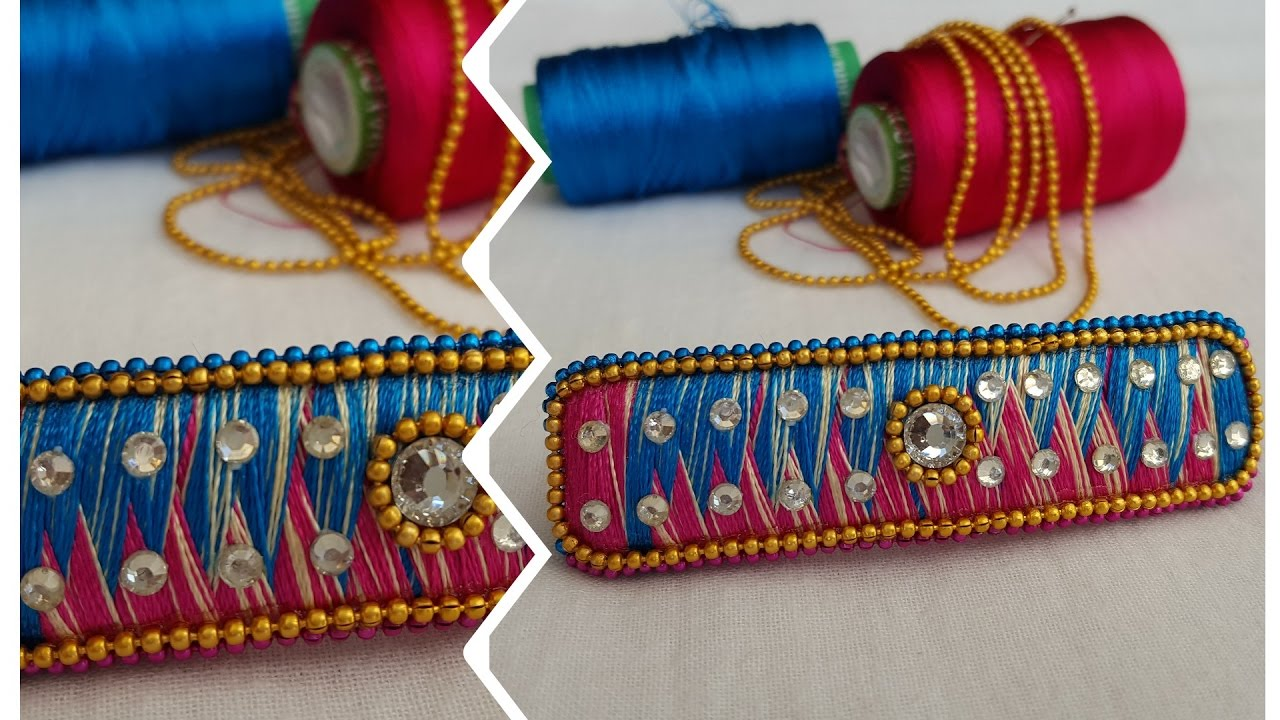How To Make Old Hair Clip Into New In Silk Thread Designer Diy