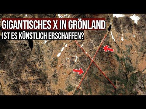 Gigantisches X in Grönland - Ist es künstlich erschaffen?