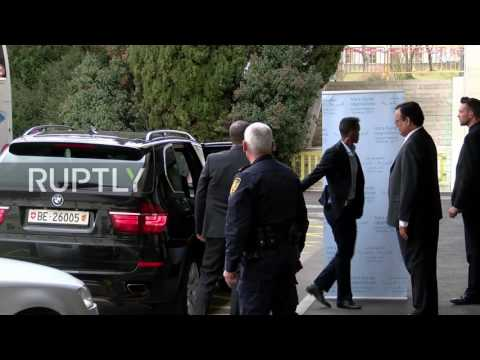 Switzerland: Syrian opposition HNC arrive for peace talks with de Mistura