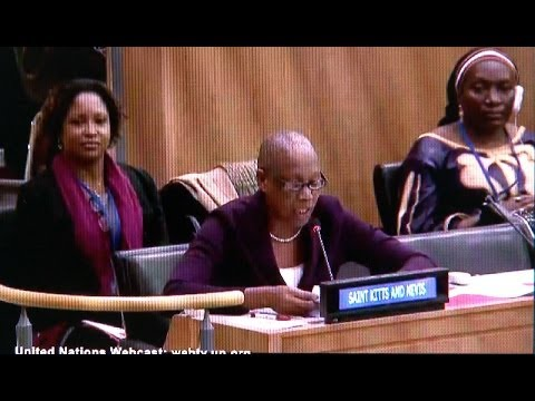 St. Kitts Marcella Liburd addresses UN Commission on Status of Women