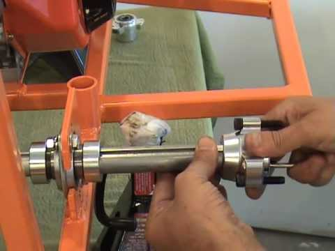 Instaling Rear Wheel Hubs On A Bar Stool Racer By www barstoolracerplans com