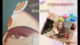 GlamEgo Box Nov 2018| Unboxing+ Giveaway (Closed)