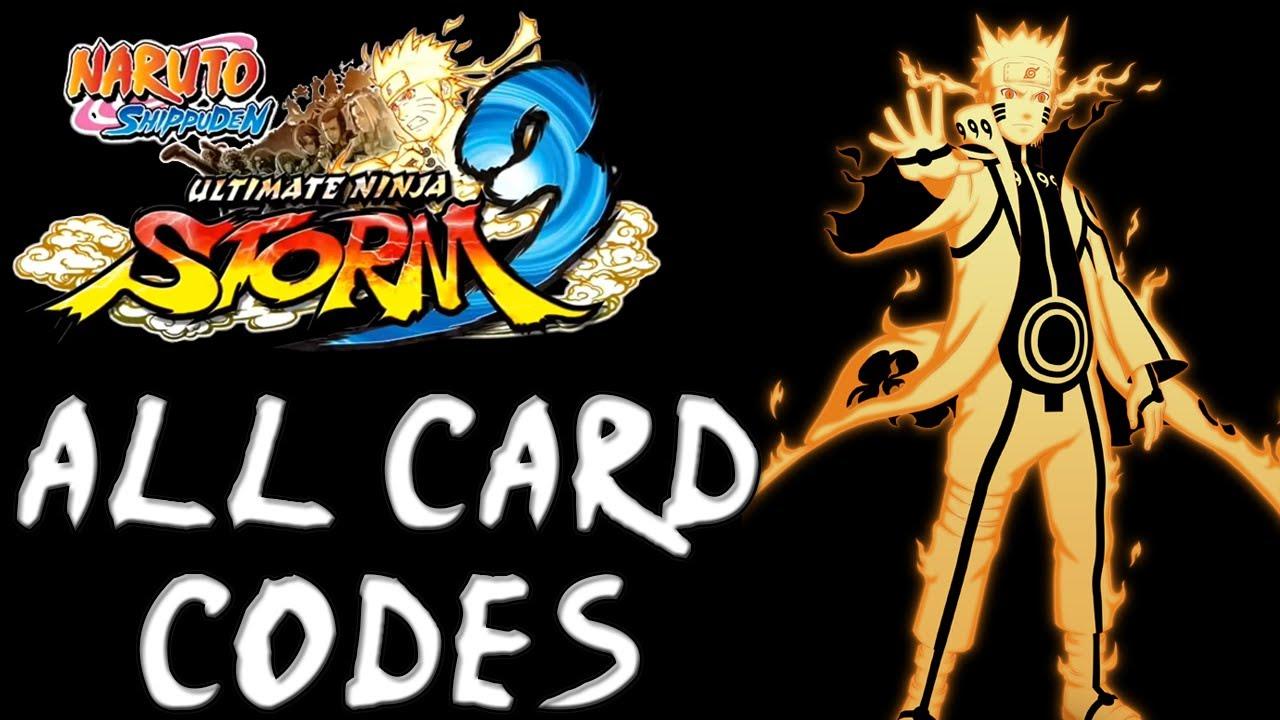 Naruto Shippuden: Ultimate Ninja Storm 3 [All Card Codes - Method #1]