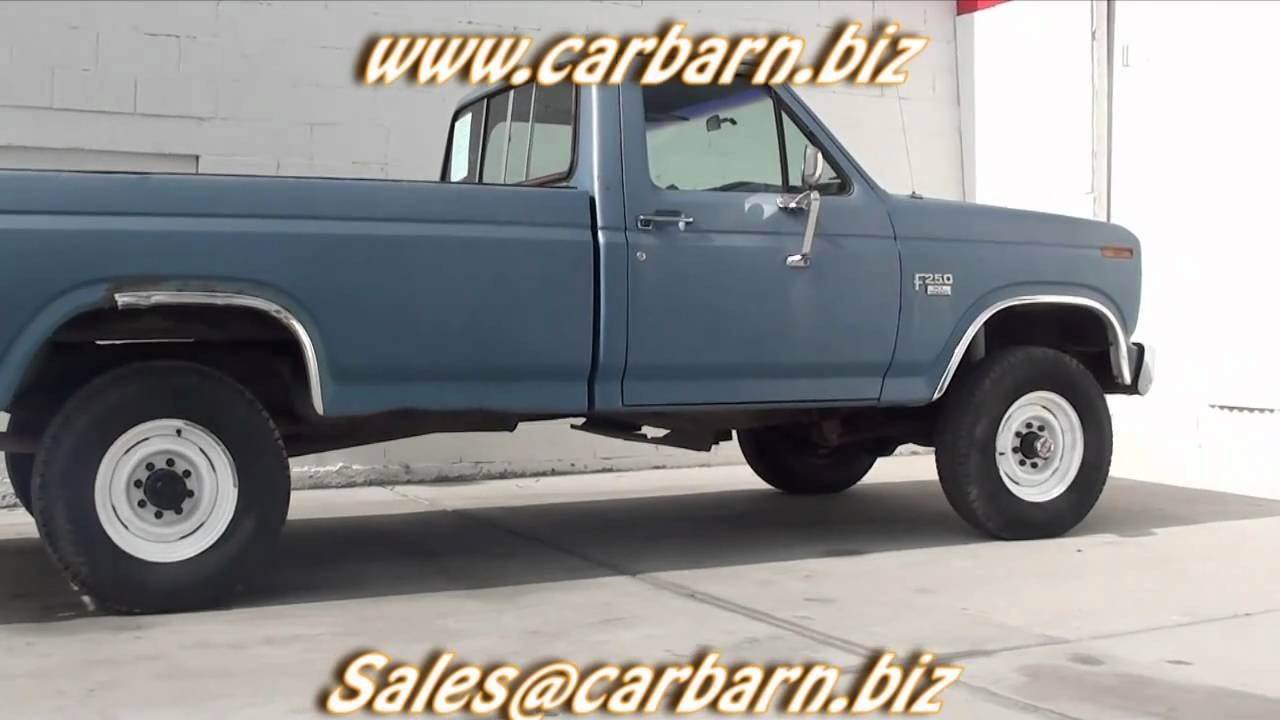 SOLD! - 1985 Ford F250 Reg. Cab Diesel 4x4 at Car Barn in ...