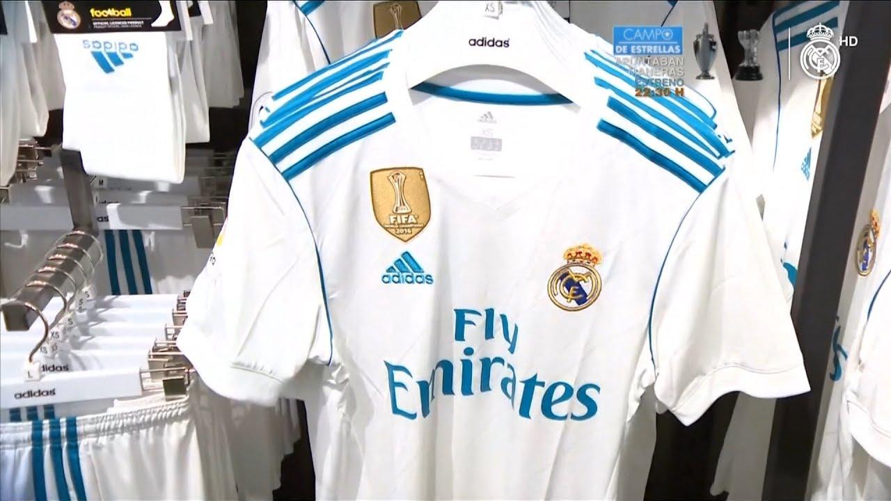 Nueva camiseta Real Madrid 2017 18 Equipación Adidas - YouTube 83f94a95ba6bd