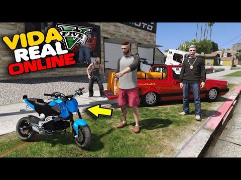 GTA V : VIDA REAL - TRANSFORMEI A MINI MOTO EM MOTO DE GRAU !!  #334