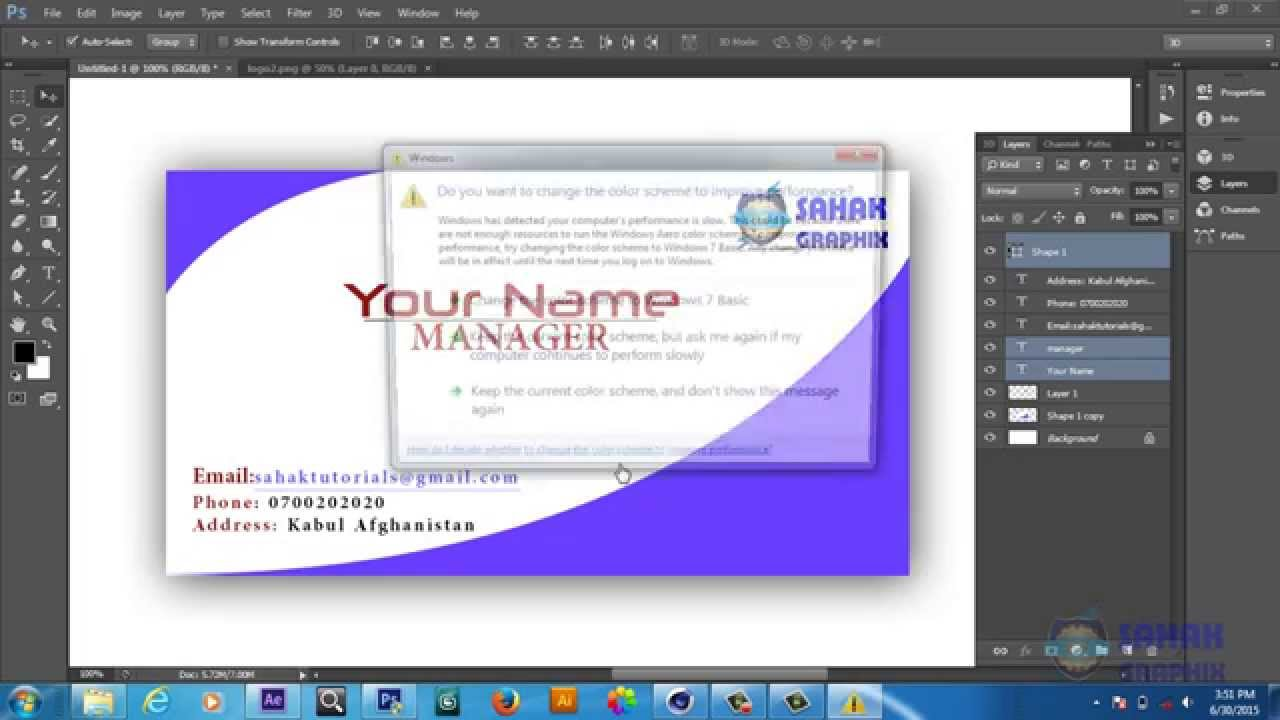 Creating Business Cards In Photoshop Images - Card Design And Card ...