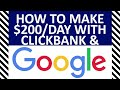 ✅ How To Make Money Using Clickbank And Google Adwords in 2019✅