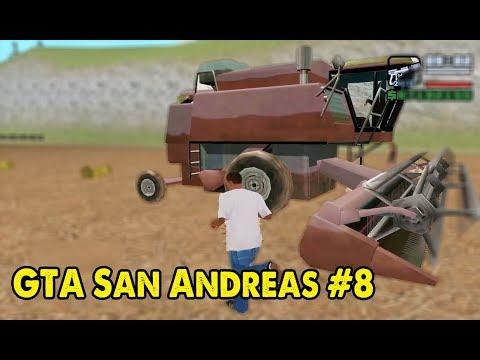 GTA San Andreas #8 - Trộm máy gặt lúa về nông trại | ND Gaming