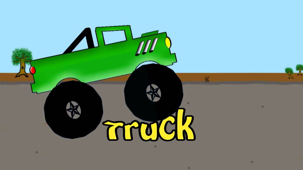Monster Truck Word Crusher Part 1 Green Monster Truck Youtube
