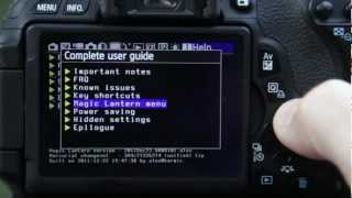 Canon T3i 600D: Magic Lantern for DSLR Movies - an intro (Part2)
