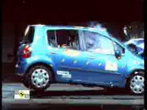 crash test 2004 2006 renault modus euroncap youtube. Black Bedroom Furniture Sets. Home Design Ideas