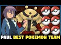 Best Team for Paul   Top 6 Strongest Pokemon of Paul   Paul Best Pokemon Team   Hindi