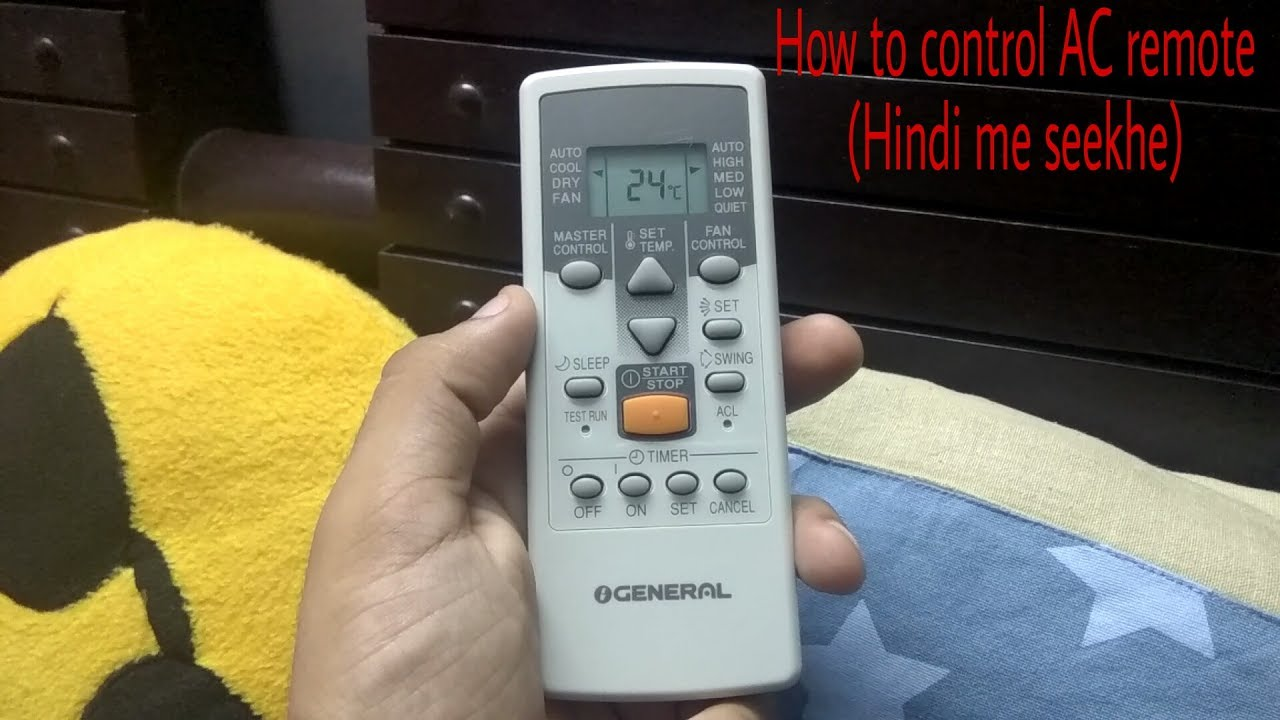 How to control (O general) AC remote Split AC k remote ko kaise chalaye  functions in Hindi