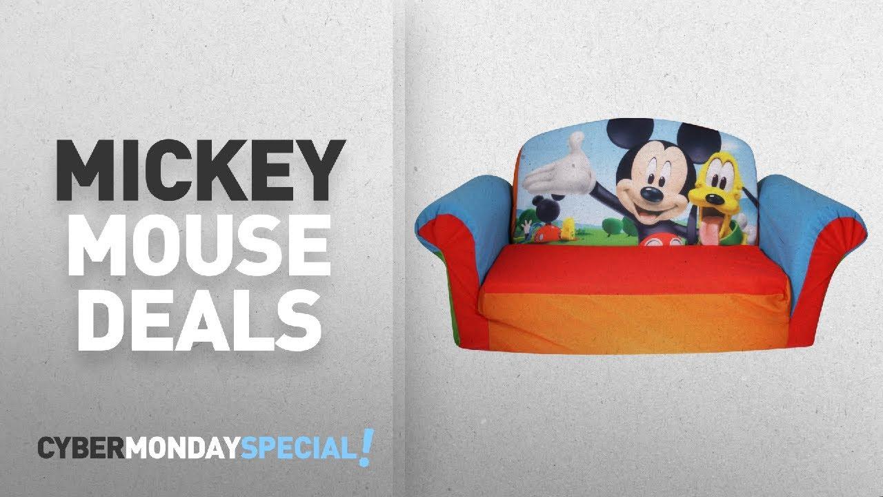 Top Cyber Monday Mickey Mouse Deals: Marshmallow Furniture, Childrenu0027s 2 In  1 Flip Open Foam Sofa,