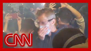 Portland mayor is tear-gassed alongside protesters