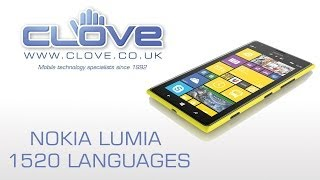 Nokia Lumia 1520 Languages