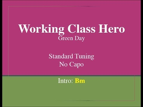 Working Class Hero Easy Guitar Chords And Lyrics Youtube