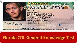 Florida CDL General Knowledge Test
