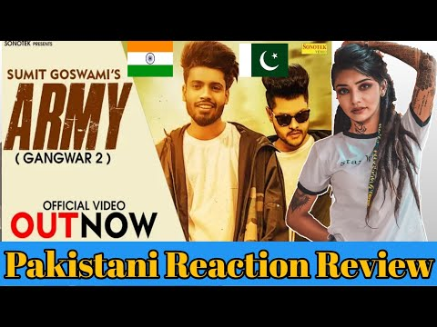 Feeling Proud Indian Army Song Reaction Review  Sumit Goswami Army Gangwar 2  Talhaviews